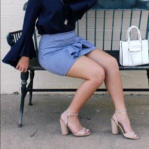 Topshop Blue Gingham Skirt
